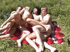 Super-Steamy sunbathing and pounding