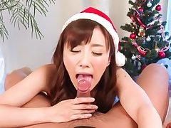 Brilliant Christams introduce for manmeat deep-throating Mika Hatori