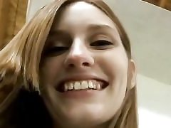 Slim bony red-haired honey gets smashed in point of view